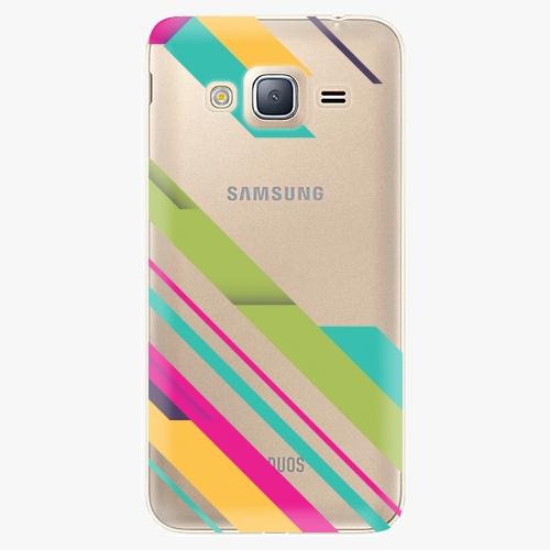 Plastový kryt iSaprio - Color Stripes 03 - Samsung Galaxy J3