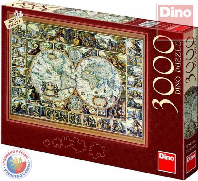 DINO Puzzle 3000 dílků Mapa historická