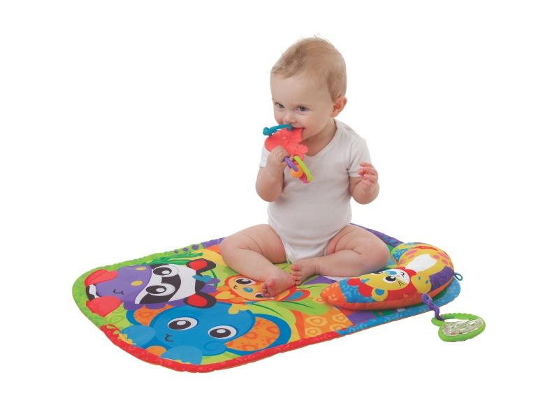 Playgro - Hrací podložka s polštářem ZOO