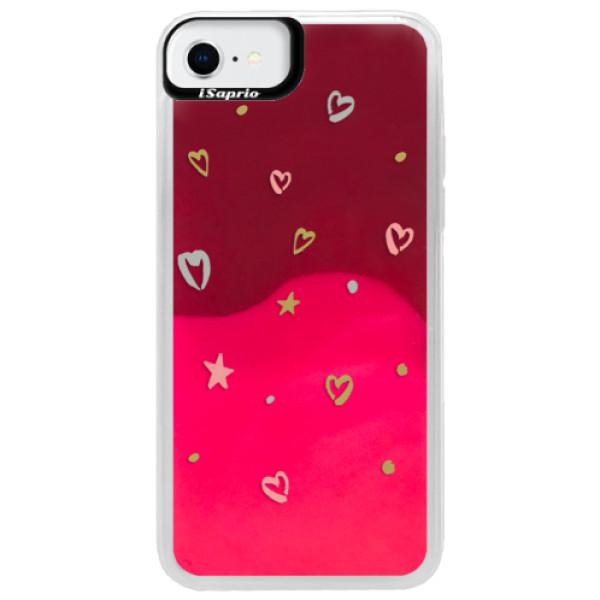 Neonové pouzdro Pink iSaprio - Lovely Pattern - iPhone SE 2020