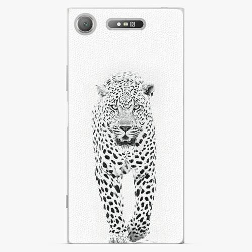 Plastový kryt iSaprio - White Jaguar - Sony Xperia XZ1