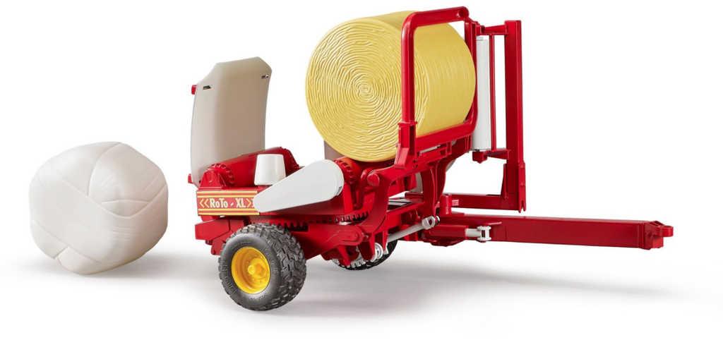 BRUDER 02122 Navíječka balíků přívěs k traktorům Profi set se 2 balíky