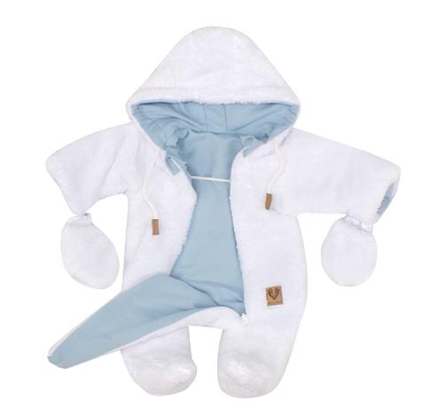 Z&Z Zimní oboustranná kombinéza s kapucí + rukavičky