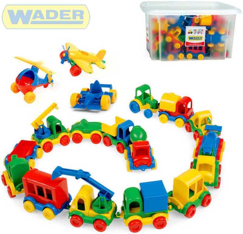 WADER Kid Cars 36 ks autíček v krabici 80603