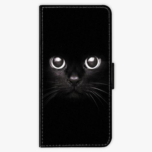 Flipové pouzdro iSaprio - Black Cat - Samsung Galaxy A3 2016