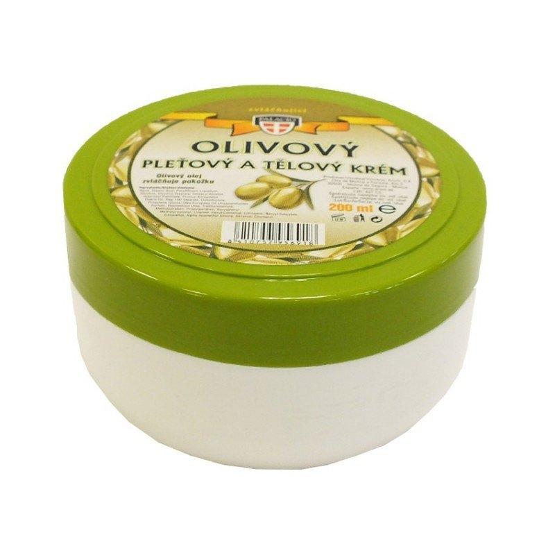 Olivový olej pleťový a tělový krém 200 ml