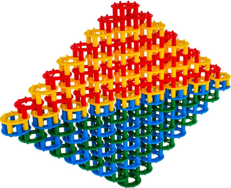 SEVA Baby stavebnice plastová DISCO set 32 kroužků pro miminko v krabici