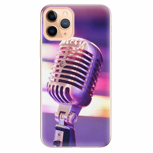 Silikonové pouzdro iSaprio - Vintage Microphone - iPhone 11 Pro
