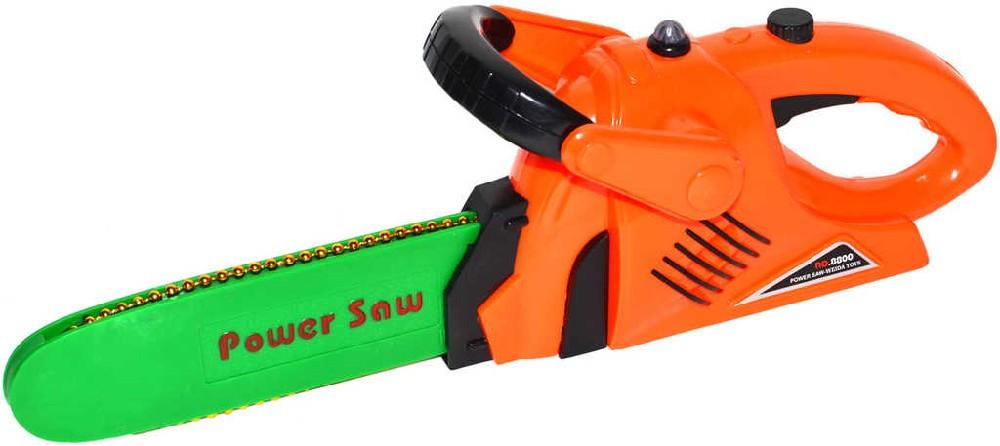 Pila motorová dětská na baterie 33 cm plastová
