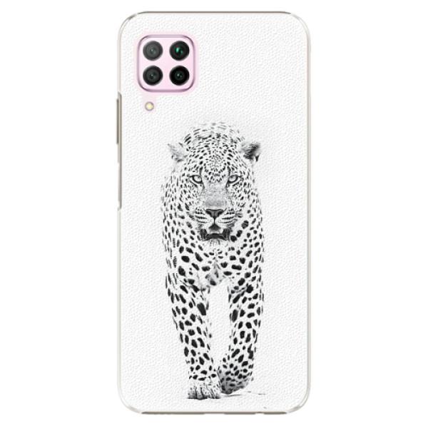 Plastové pouzdro iSaprio - White Jaguar - Huawei P40 Lite