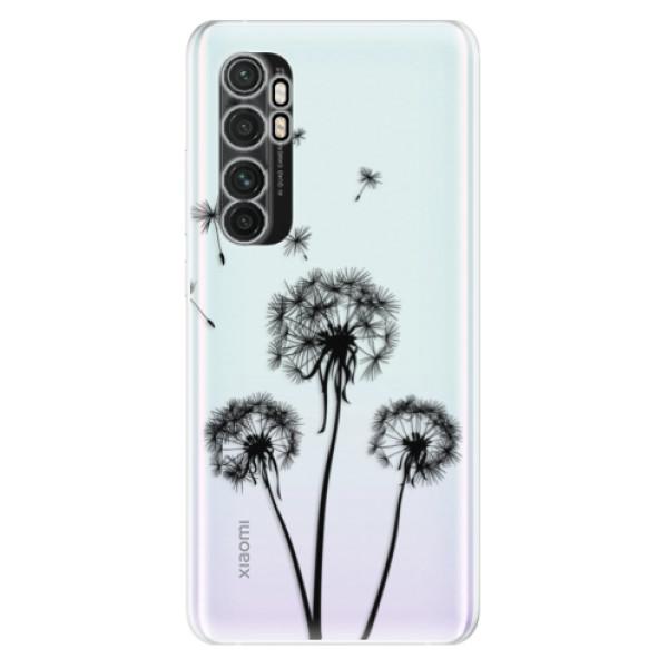 Odolné silikonové pouzdro iSaprio - Three Dandelions - black - Xiaomi Mi Note 10 Lite