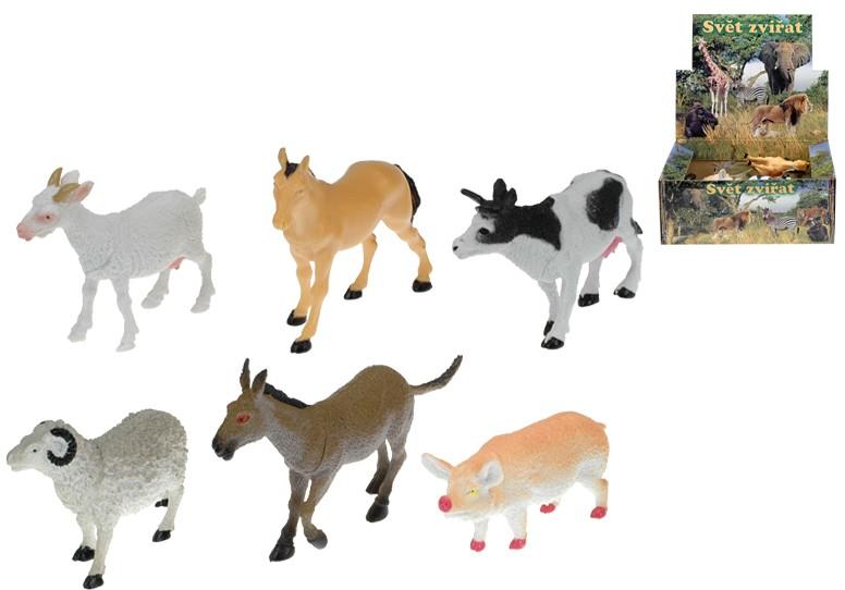 Zvířátka domácí Farma 8-13 cm Figurka Zvířátko 6 druhů
