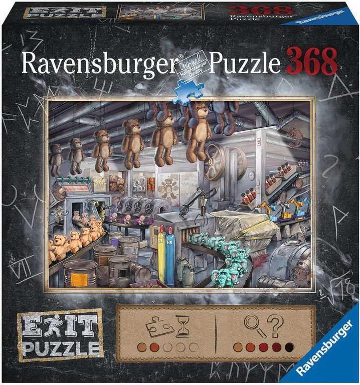 RAVENSBURGER Hra puzzle únikové Továrna na hračky 368 dílků 70x50cm skládačka 2v1