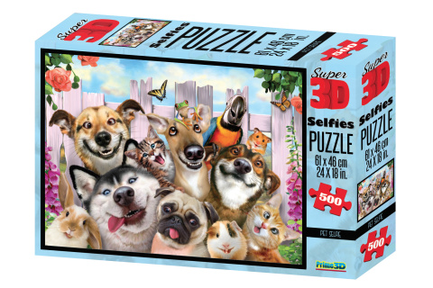 3D Puzzle Psí selfie 500 díllků