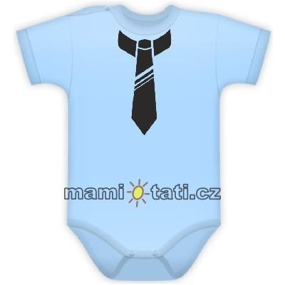 baby-dejna-body-kr-rukavek-s-potiskem-kravaty-sv-modre-80-9-12m