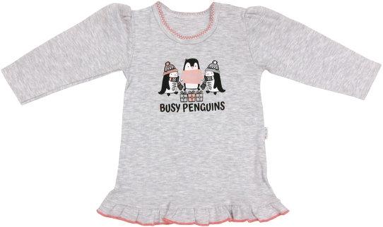 Mamatti Bavlněná halenka Penguin - dlouhý rukáv