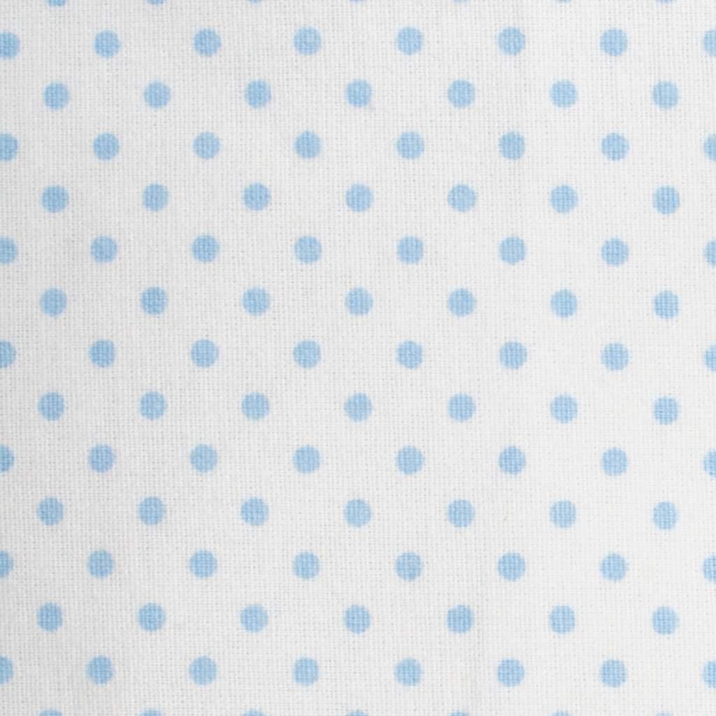 Nepromokavá flanelová podložka New Baby puntíky - modrá