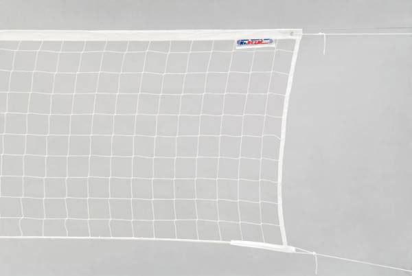 ACRA Síť volejbalová bílá 2mm ocelové lanko 9,5 x 1m