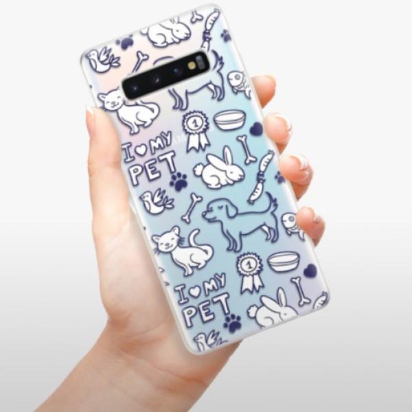 Odolné silikonové pouzdro iSaprio - Love my pets - Samsung Galaxy S10+