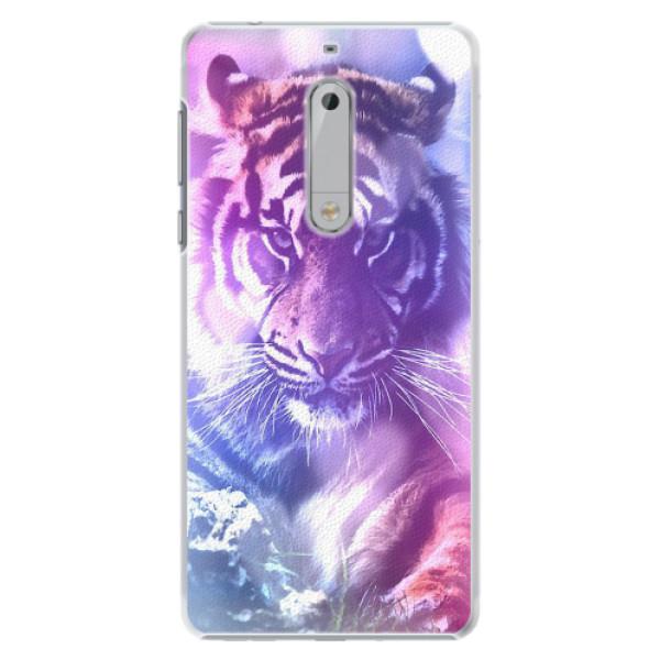 Plastové pouzdro iSaprio - Purple Tiger - Nokia 5