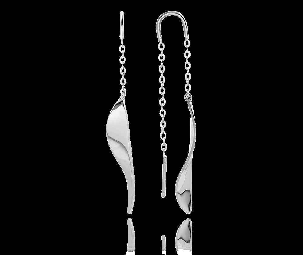Stříbrné visací náušnice