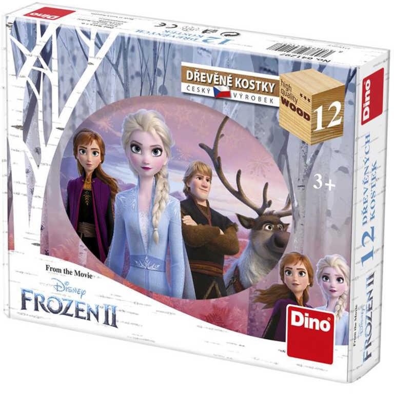 DINO DŘEVO Kubus Frozen 2 (Ledové Království) kostky obrázkové set 12ks