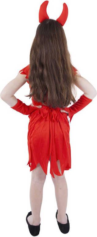 KARNEVAL Šaty čertice červené vel.M (116-128cm) 6-8 letKOSTÝM