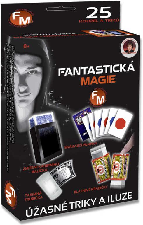 Sada Fantastická magie 25 kouzel a triků malý kouzelník v krabici
