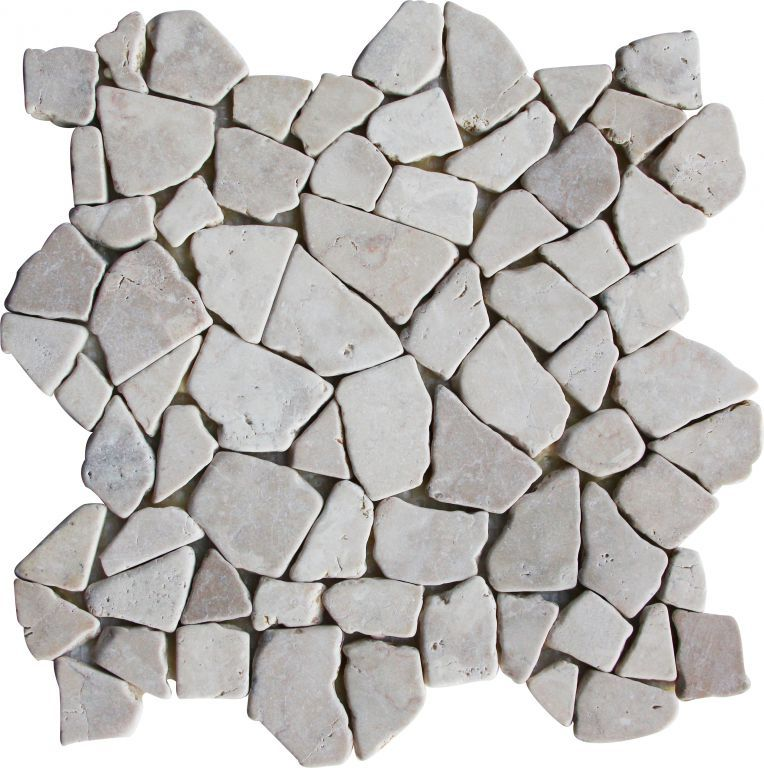 Mozaika z mramoru Kuta White - 1× síťka