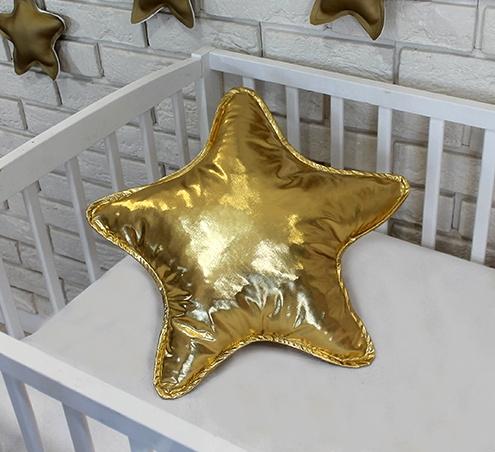 baby-nellys-dekoracni-oboustranny-polstarek-hvezdicka-45-cm-zlaty