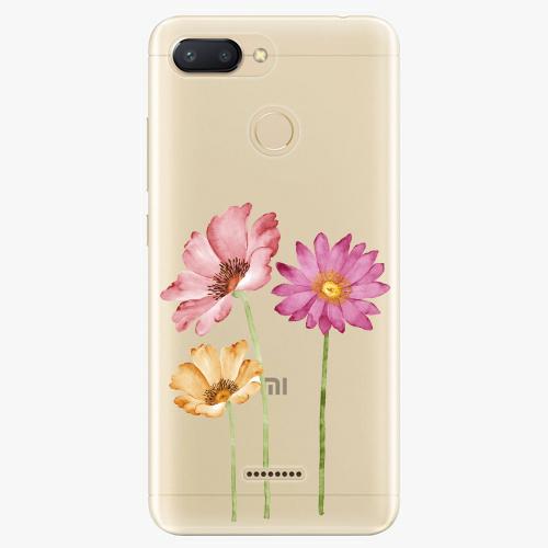 Silikonové pouzdro iSaprio - Three Flowers - Xiaomi Redmi 6