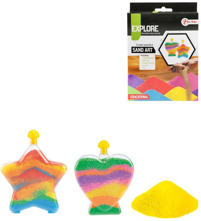 Výroba z písku barevné dekorativní nádoby kreativní set v krabici