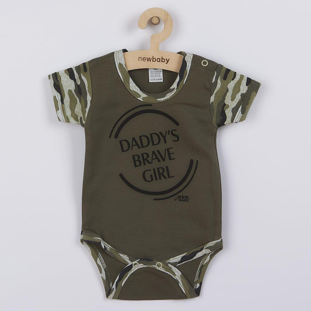 Kojenecké body s krátkým rukávem New Baby Army girl