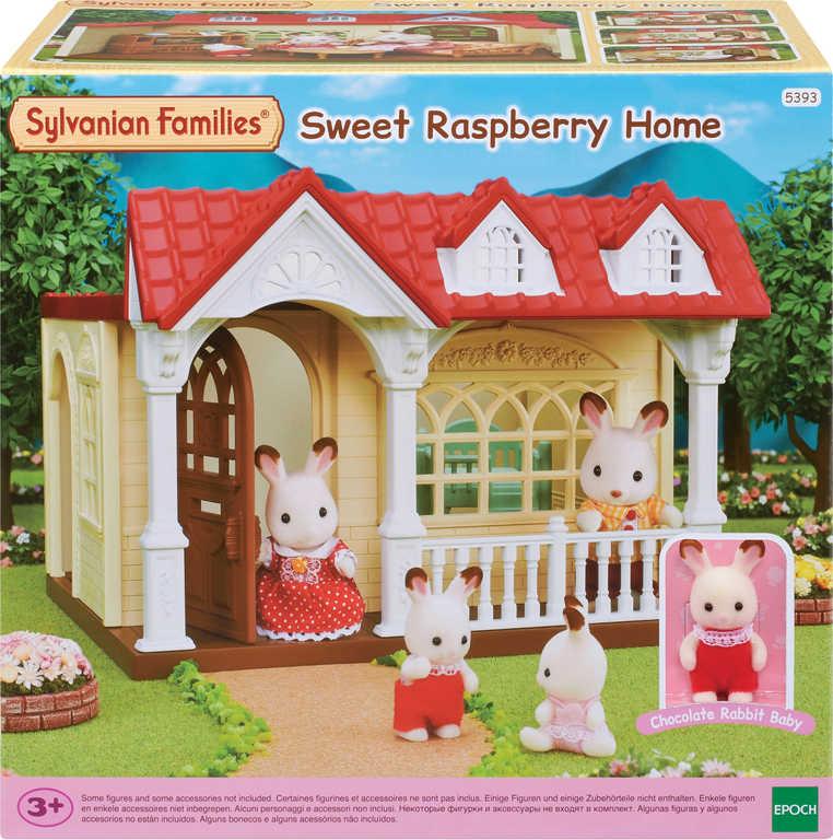Sylvanian Families Domeček Sweet Raspberry set s postýlkou a figurkou