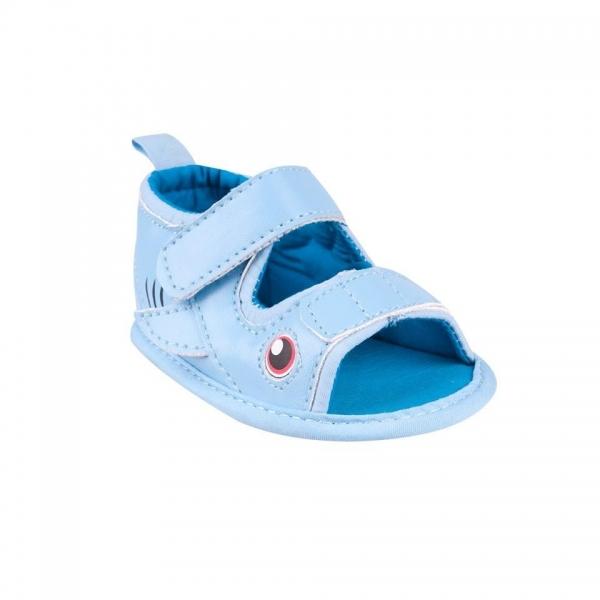 YO ! Capáčky, sandálky Fish - sv. modré - 0/6 měsíců
