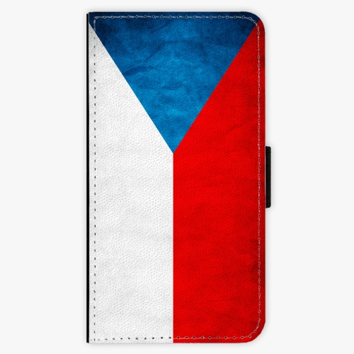 Flipové pouzdro iSaprio - Czech Flag - Samsung Galaxy S6