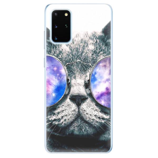 Odolné silikonové pouzdro iSaprio - Galaxy Cat - Samsung Galaxy S20+