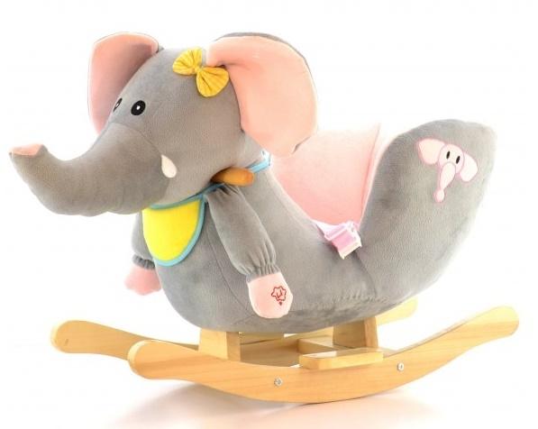 Houpací Slon s melodii - šedý
