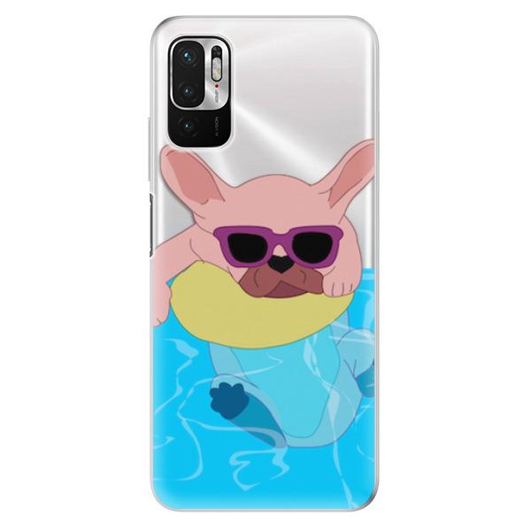 Odolné silikonové pouzdro iSaprio - Swimming Dog - Xiaomi Redmi Note 10 5G