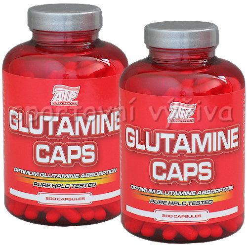 2x Glutamine caps 200 kapslí