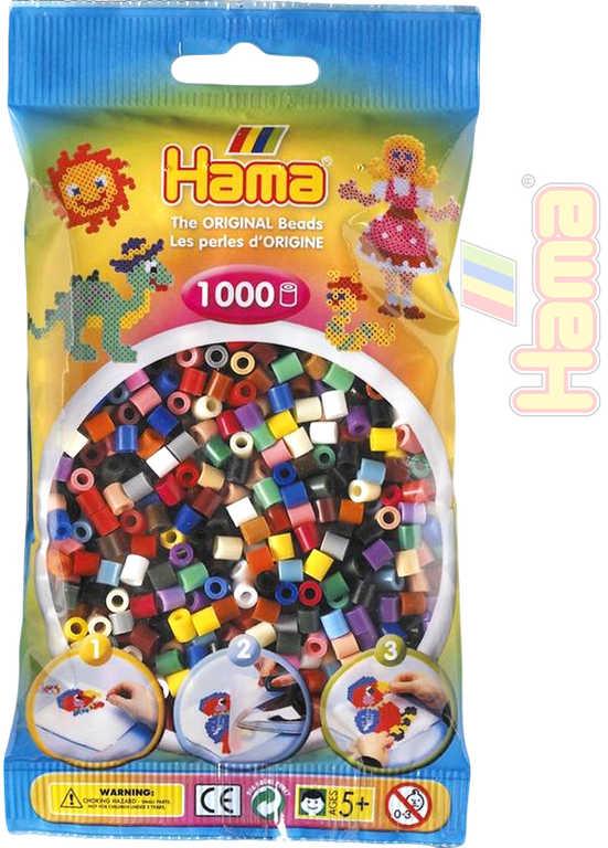 HAMA Korálky dětské zažehlovací barevné set 1000ks v sáčku midi plast