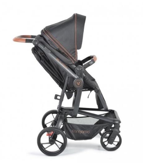Cangaroo Dětský kočárek 3v1, Ellada 2021 - černý
