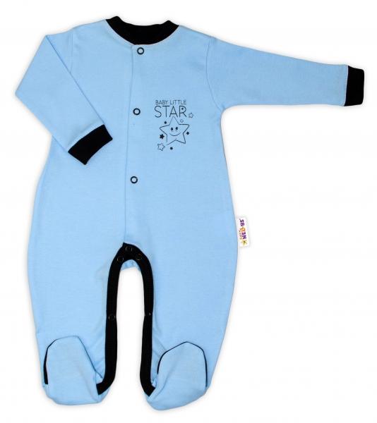 baby-nellys-bavlneny-overalek-baby-little-star-modry-vel-86-86-12-18m
