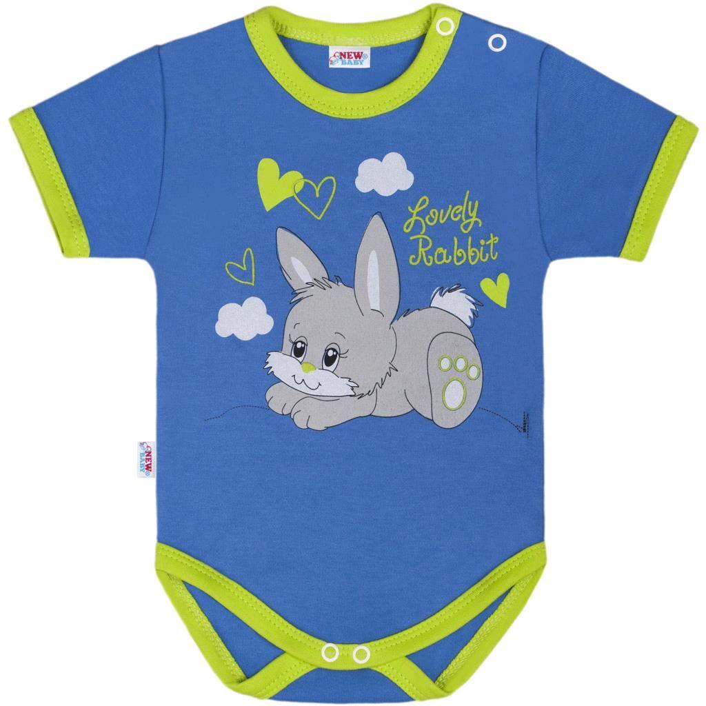 Dětské body s krátkým rukávem New Baby Lovely Rabbit