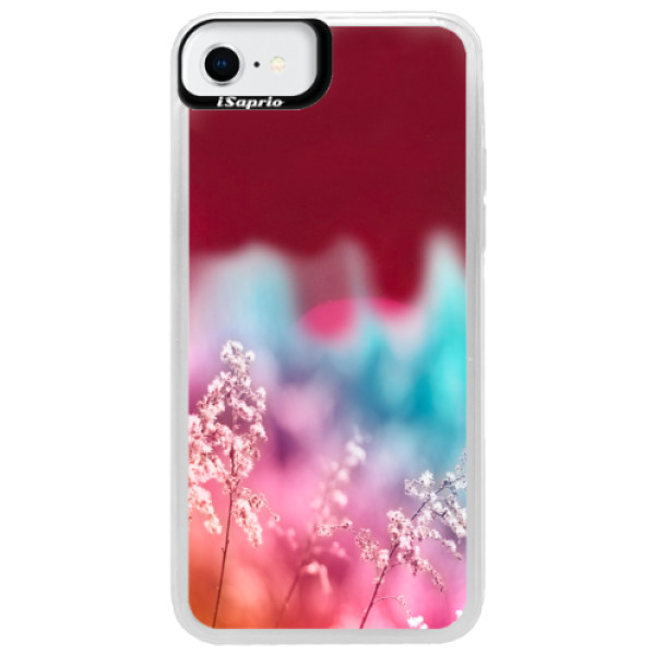 Neonové pouzdro Pink iSaprio - Rainbow Grass - iPhone SE 2020