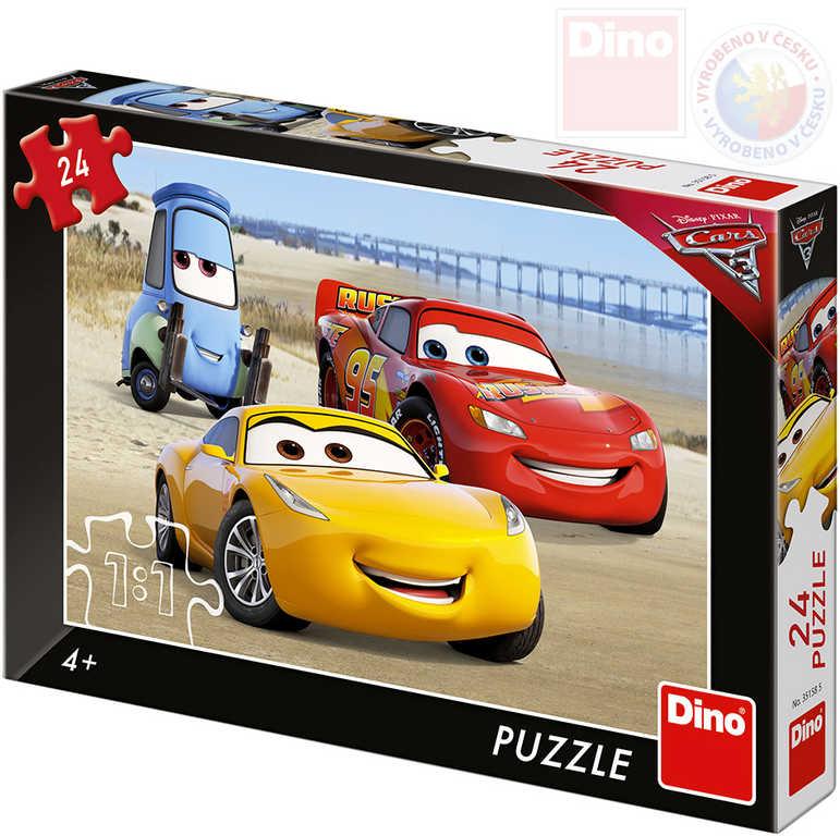 DINO Puzzle 24 dílků Cars 3 (Auta) 26x18cm skládačka v krabici