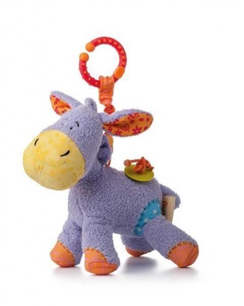 Závěsná plyšová hračka s chrastítkem Oslík Laki