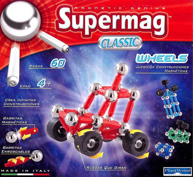 SUPERMAG auto 60 dílků * MAGNETICKÁ STAVEBNICE *