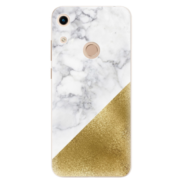 Odolné silikonové pouzdro iSaprio - Gold and WH Marble - Huawei Honor 8A