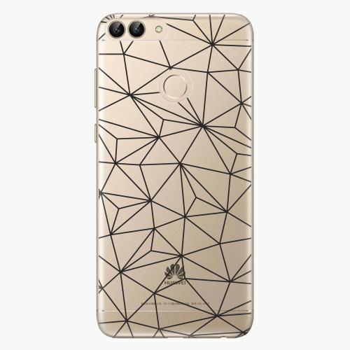 Silikonové pouzdro iSaprio - Abstract Triangles 03 - black - Huawei P Smart